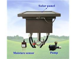 Solar Powered Irrigation Controller with Moisture Sensor & Pump